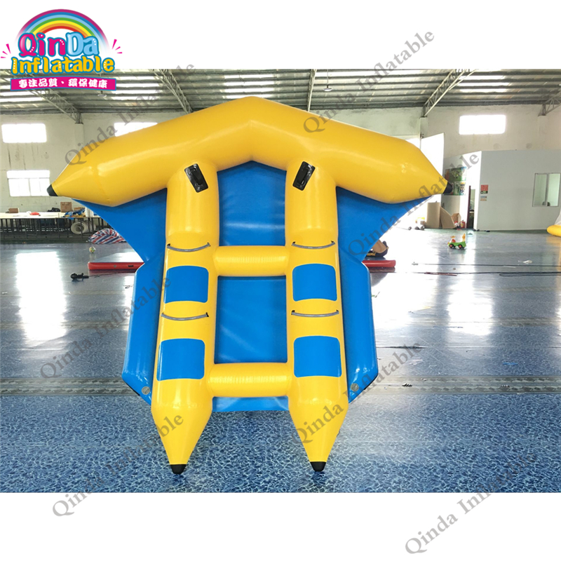 Serviceable inflatable flying fish banana boat Inflatable flying fish tube towable,fish banana sport boat for sale summer hot selling inflatable water sport flying inflatable crazy ufo for sale water ski tube