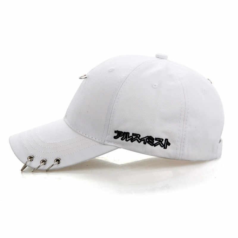 a3f8d04c656db8 ... Mens Snapback Hats Fashion Kpop Iron Ring Hats Adjustable Baseball Cap  GPD8216 ...