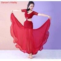 2018 New Women Dancewear Belly Dance Clothes Baladi Dress saidi One piece Dresses Practice Costume Bellydance Dress
