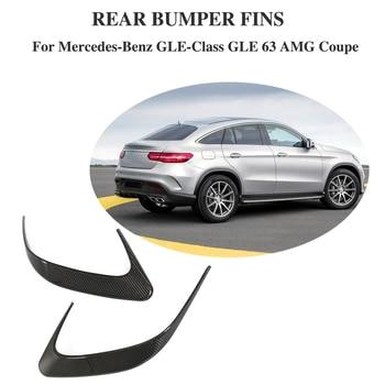 Garnitures d'évent de coffre de Canards de pare-chocs arrière de lèvres de diviseur de course de fibre de carbone pour Mercedes Benz GLE63 AMG SUV Sport coupé 2015-2018