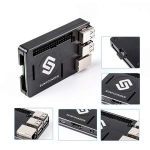 Image 4 - SunFounder Raspberry Pi 3B+, 3, 2, 1B+ Enclosure Metal Case with Heat Dissipation Silica Pad Raspberri pi 3 B+ Case