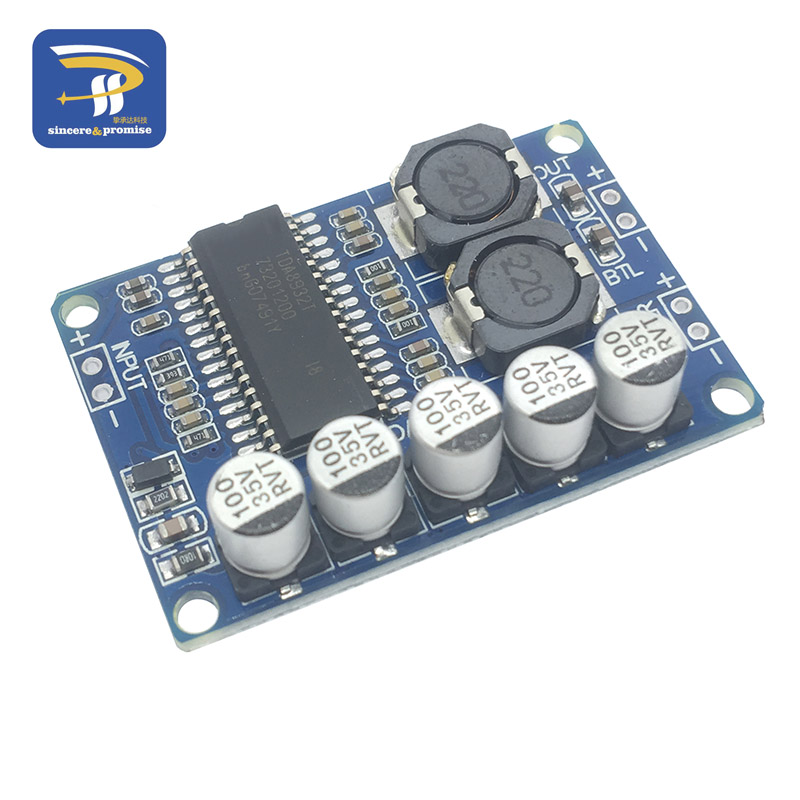1Pcs Module Double Channel 5-15W Dc 3 To 18V TDA7266 Audio Amplifier Module fl
