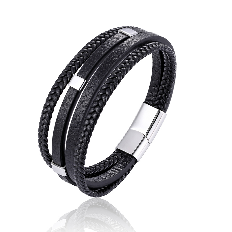 Classic Genuine Leather Bracelet Men Fashion Braided Handmade Charm Rope Wrap For Men and Women Bracelets & Bangles Male Gifts