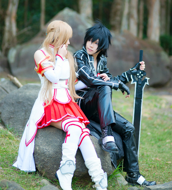 Anime cosplay sword art online the question