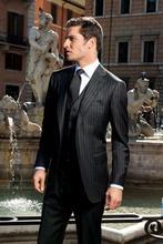 Custom Made Groom Tuxedo Two Buttons Groomsmen Notch Lapel Wedding/Dinner Suits Best Man Bridegroom (Jacket+Pants+Tie+Vest)B332