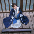 Noite-blooming cereus bonita dress bordados finos de inverno das mulheres do estilo chinês do vintage hanfu longo dress 3 pcs set cape quente
