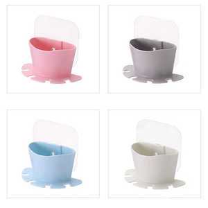 Image 3 - 高品質歯ブラシ収納ラックウォールマウントカップでシャワールームハンガーカップ歯磨き粉収納ラックホルダーウォールマウントカップ