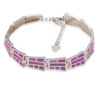 Elegant Purple Fire Opal Bracelets For Women 2016 New Arrival Silver Stamped Wholesale Retail Fashion Jewelry