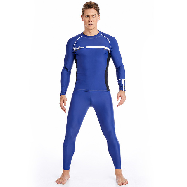 Men Plus Size Wetsuits Tight Swimwear Professional Diving Suits Bathing Suits Swimming Suits For Male Beach Swimwear Long Sleeve
