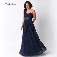 Navy Blue One Shoulder Long Chiffon Bridesmaid Dresses Back Zipper Floor Length Plus Size Bridesmaid Dresses