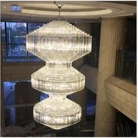 Роскошный большой отель инженерные огни Вилла зал хрустальные светильники Люстра клуб инженерные огни лобби освещение светодио дный