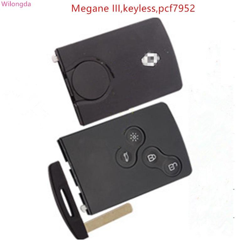 Clé de voiture intelligente Wilongda clé à distance sans clé à 4 boutons hitag AES pcf7953 puce 434 mhz pour renault Clio 4 clé après 2013