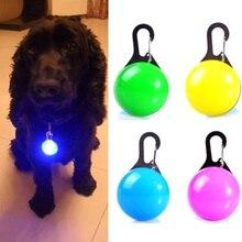 Безопасность щенок кошка ночник мигающий ошейник для собак Светодиодный яркое ожерелье с подвеской питомец светящийся яркий сверкающий в темноте