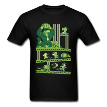 Dragon Kong Ball Super Mario VideoGame Tshirts Mountain Gorilla Attract Funny Cartoon T Shirt Pure Cotton Fitness Tee Man