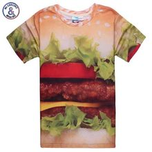 2017 Mr.1991INC New arrival Fashion girls/males 3D t-shirt printed humorous hamburg scrumptious meals horny high tees Tshirt MDT94