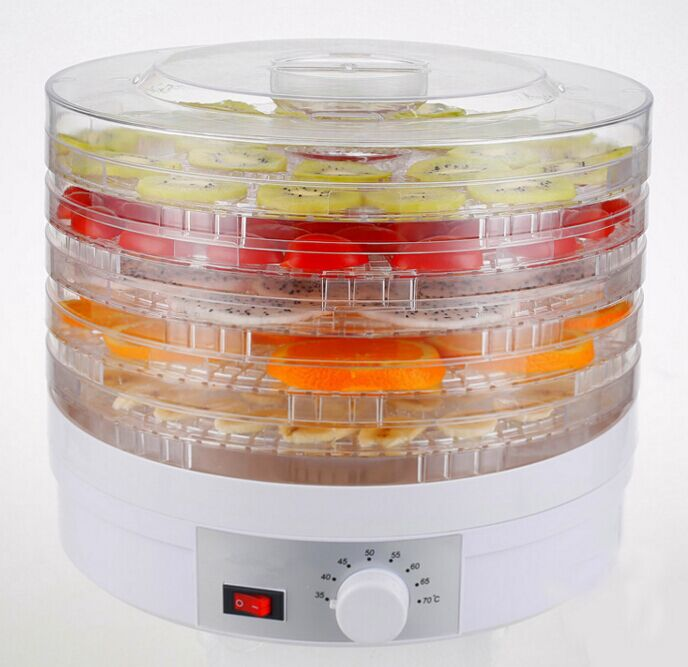 EU/UK/US Plug Food Dehydrator Fruit Vegetable Herb Meat Drying Machine Snacks Food Dryer Fruit dehydrator with 5 trays