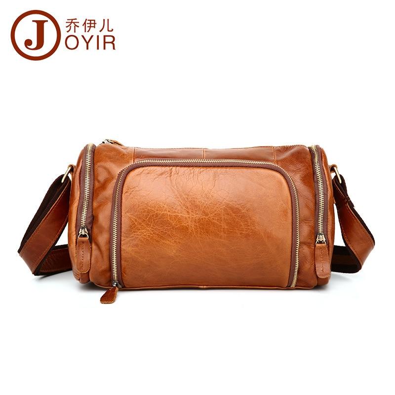 Топ Ковбой 100% модная Натуральная кожа Мужская сумка мессенджер винтажный дизайн подушки сумки мужские горизонтальные повседневные дорожные сумки через плечо - 5