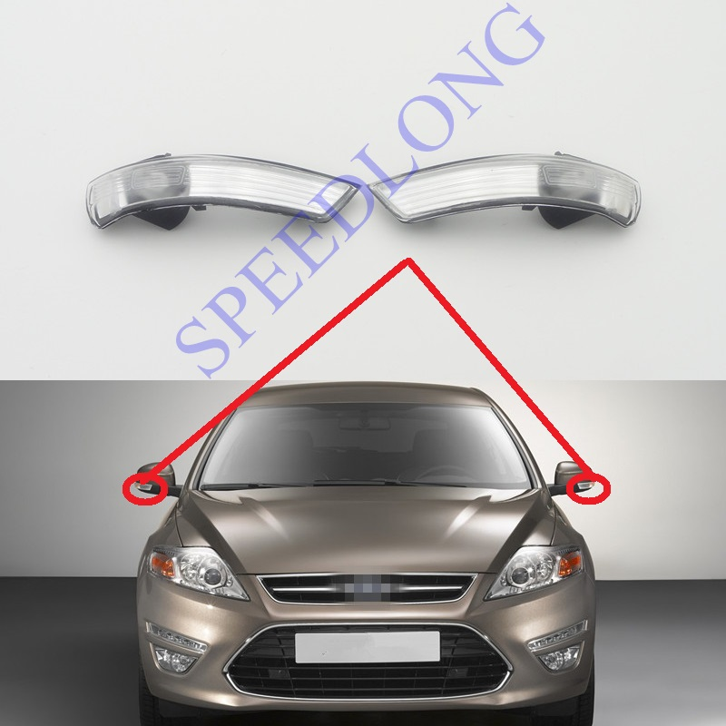 2 Pcs/Pair RH and LH rearview mirror indicator lights lamps turn signals for Ford Mondeo 2011-2012 2 pcs pair rh and lh door mirror lights lamps turn signals for ford f150 lower configuration 2015 2016