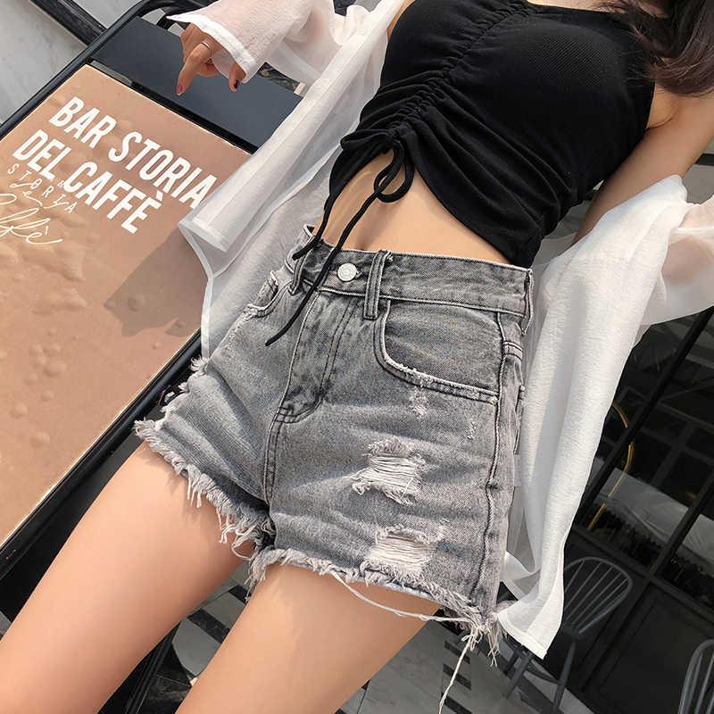Mishow Модные джинсы женские шотры MX18B2217