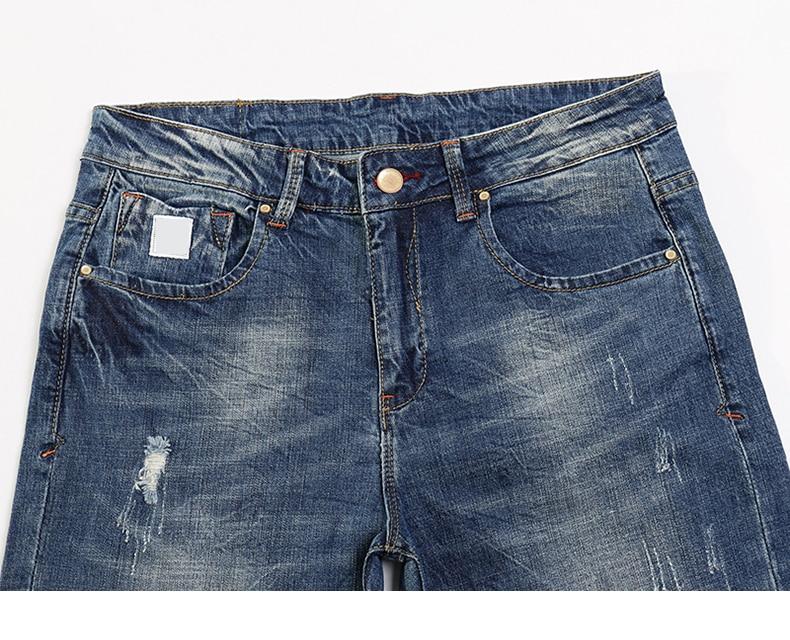 KSTUN Fashion Jeans for Men Slim Straight Blue Stretch Distressed Men's Clothes Trousers Yong Man Casual Pants Cowboys Jean Hombre 38 13
