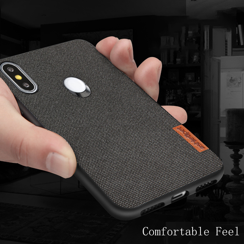 Canvas Phone Case For Redmi Note 8 Mix 2s Max 3 Shockproof  1