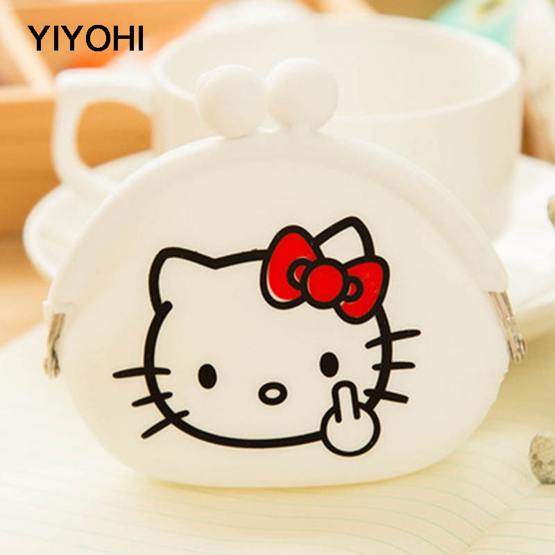YIYOHI New Candy Color Cartoon Animals Women & Girls Wallet Multicolor Jelly Silicone Coin Bag Purse Kids Gift Earphone Holders new fashion lovely kawaii candy color cartoon animal women girls wallet multicolor jelly silicone coin bag purse kid gift