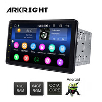 8 2din Android Car Radio support 4G SIM card 4+64gb Car Multimedia Player GPS/autoradio/car DVD player/Hotspot sharing with DSP
