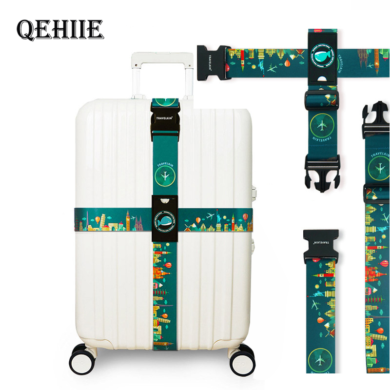 QEHIIE Brand Luggage Cross Belt Adjustable Travel Suitcase Band Luggage Suitcase Rope Straps Travel Accessorie High Quality