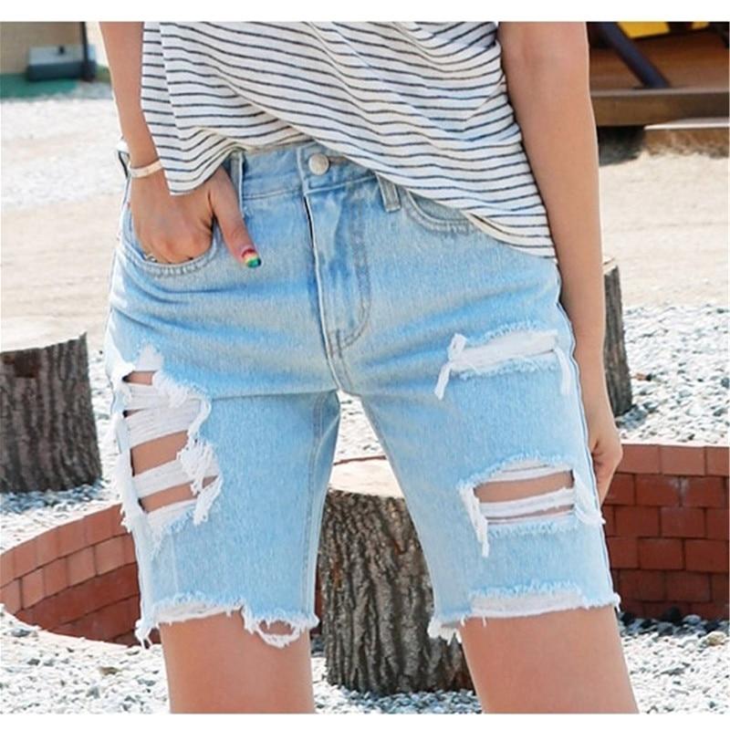 Popular Loose Denim Knee Shorts Women-Buy Cheap Loose Denim Knee ...