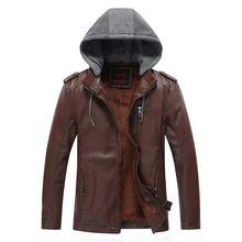 купить Loldeal Men Hooded Drawstring Plus Velvet Pockets Zipper Coat Jacket по цене 2168.22 рублей