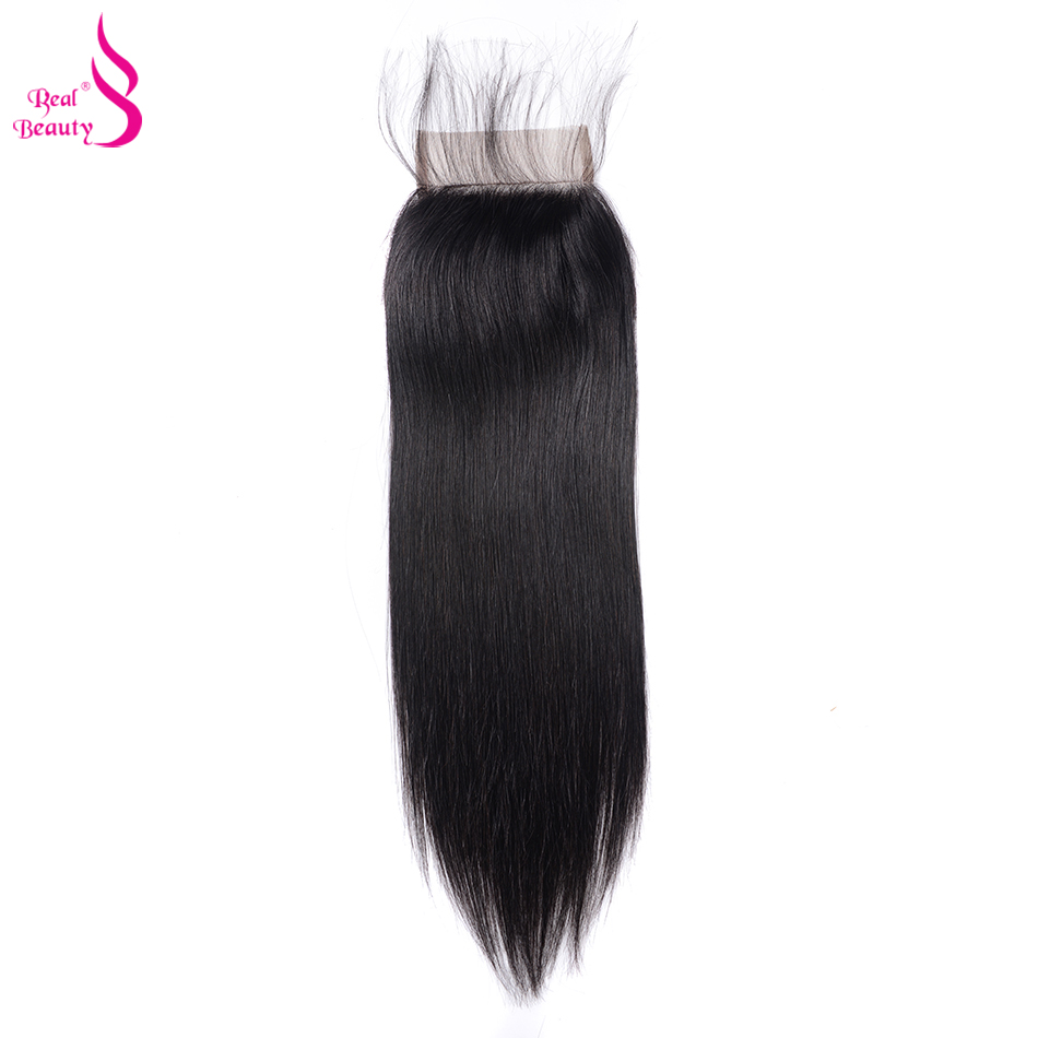 Real Beauty  Straight Hair Lace Closure Three/Free/Middle/ Part  4x4 inch Swiss Lace Closure 2