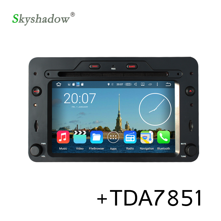 1din Android 7.1 Car Multimedia DVD Player For Alfa Romeo