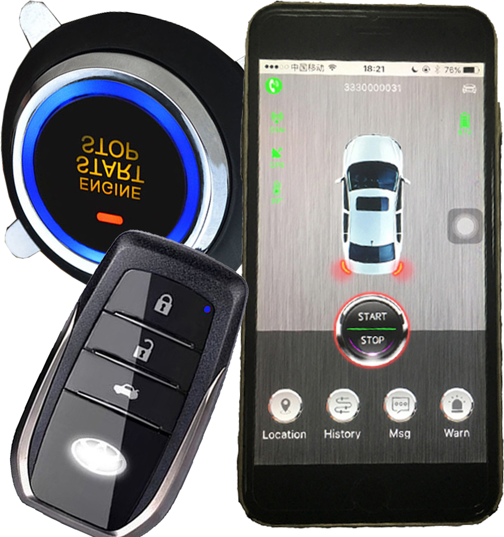 Vehicle Phone Systems : Real g smart phone app car security alarm system multiple