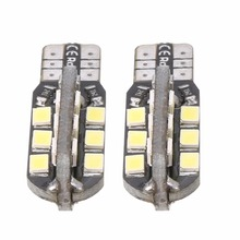 2pcs T10 2835 24LED Canbus No Error Car Width License Plate Light White Driving Instrument plate lamp