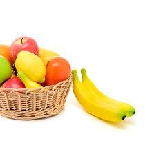 Pu Simulation Fruits Banana Pear Mango Orange Peach Kitchen Toy Fruit And Home New York Decoration Garden Diy Handwork