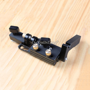 1PCS Woodworking Flip Stop with Micro-Adjustable Settings for Miter Gauge Fence JF1728 woodworking tools miter gauge and box joint jig kit with adjustable flip stop woodworking diy tools jf1171