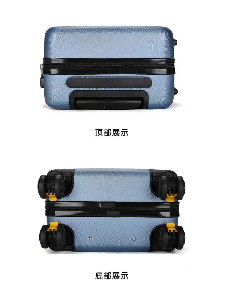 ZYJ Travel Trolley Luggage Men Women Alloy Business Solid Rolling Scratchproof Airplane Suitcase Luggage Spinner Wheels Trunk (16)