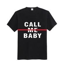 2017 Fashion New T Shirt Women Korean Clothes White Black Short Sleeve Print Name Letter Ladies Tops CALL ME BABY