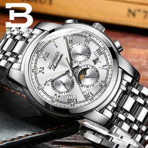 Image 5 - ספיר שעון עמיד למים Relogio Masculino שוויץ אוטומטי מכאני שעון גברים Binger יוקרה מותג Mens שעונים B1178 4