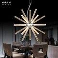 LED бар модная акриловая люстра простая Европейская индустрия освещения для кафе