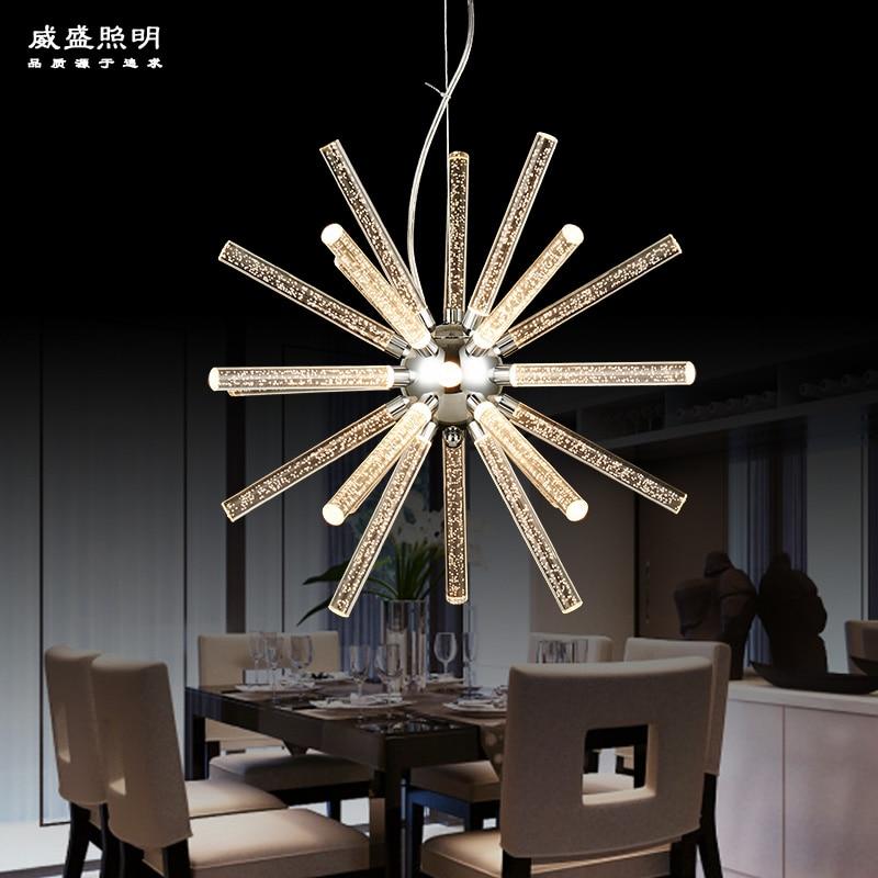 LED bar fashion acrylic chandelier simple European cafe room lighting industryLED bar fashion acrylic chandelier simple European cafe room lighting industry