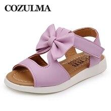 COZULMA Дівчата Літні туфлі Дитячі сандалії для дівчаток Принцеса Bow Tie Пляж сукні взуття Дитячі дитячі сандалії дівчат на 1-14 років