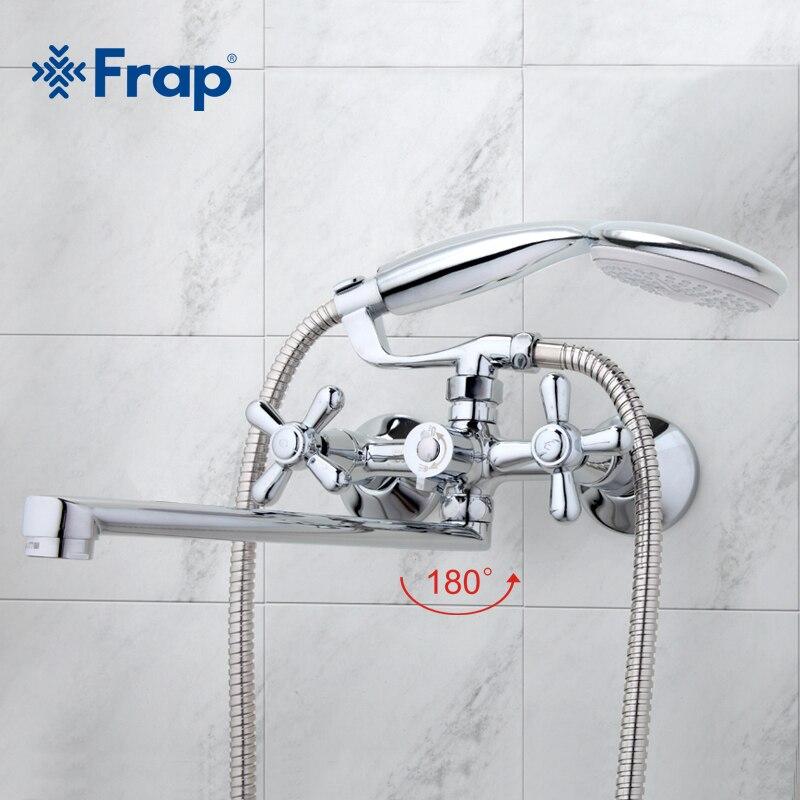 FRAP традиционные Ванная Комната Смесители 300 мм длинные воды на выходе трубки двигаться 90 градусов влево и вправо F2225 F2224