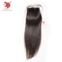 [FYNHA]Brazilian Virgin Hair Silk Base Lace Closure Straight Hair Natural Color 100% Human Hair Free Shipping