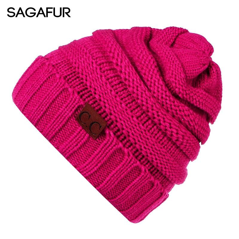 SAGAFUR Women Winter Knitted Ha