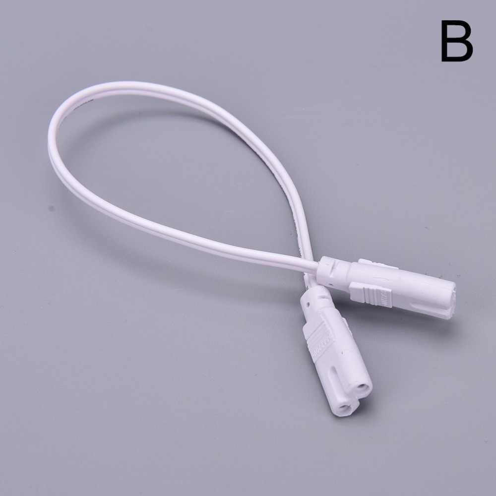 1 Cái 30 cm Trắng Hai-giai đoạn Ba pha T4 T5 T8 Led Lamp Chiếu Sáng Kết Nối Đôi-end Cáp Wire 3 Pin Nối Ống DẪN