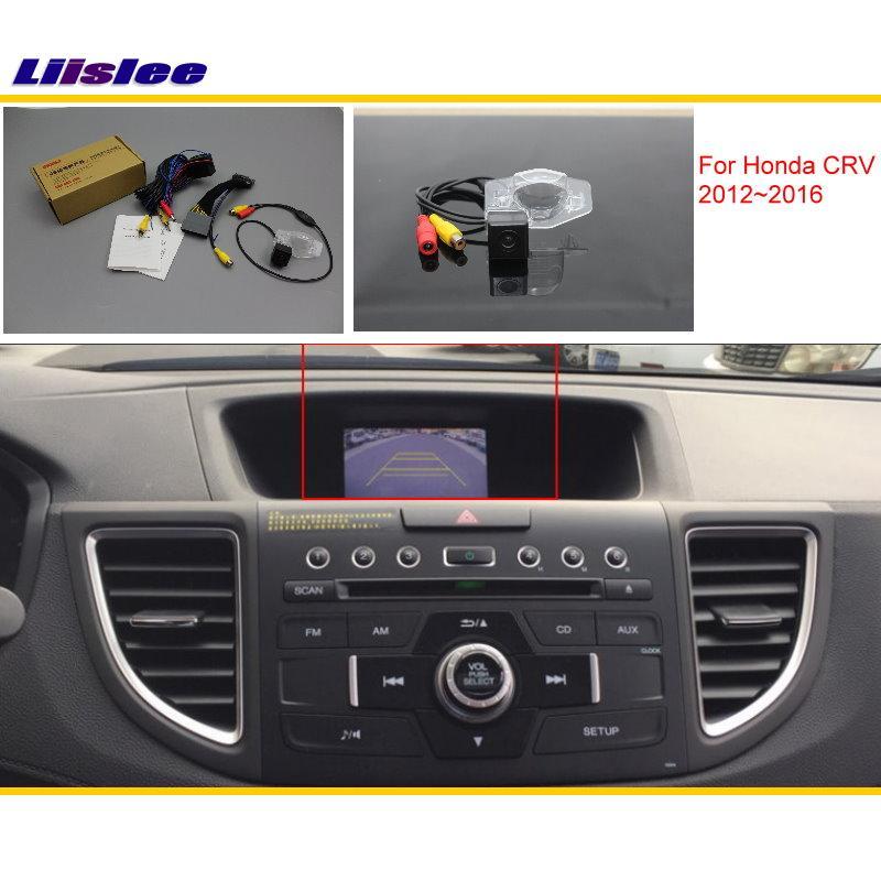 Liislee Pour Honda CRV C-RV (FB) 2012 ~ 2016 De Voiture Back Up N ° Caméra Ensembles/RCA et D'origine Écran Compatible/Parking Caméra
