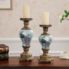 Американская романтичная Свеча для свадьбы держатели украшения ретро стол домашняя мебель ремесла