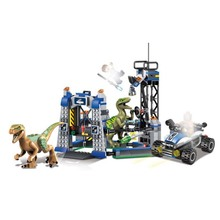 legoing Jurassic World Park series Carnotaurus Gyrosphere Escape Model Building Block Toy For Children Gift compatible