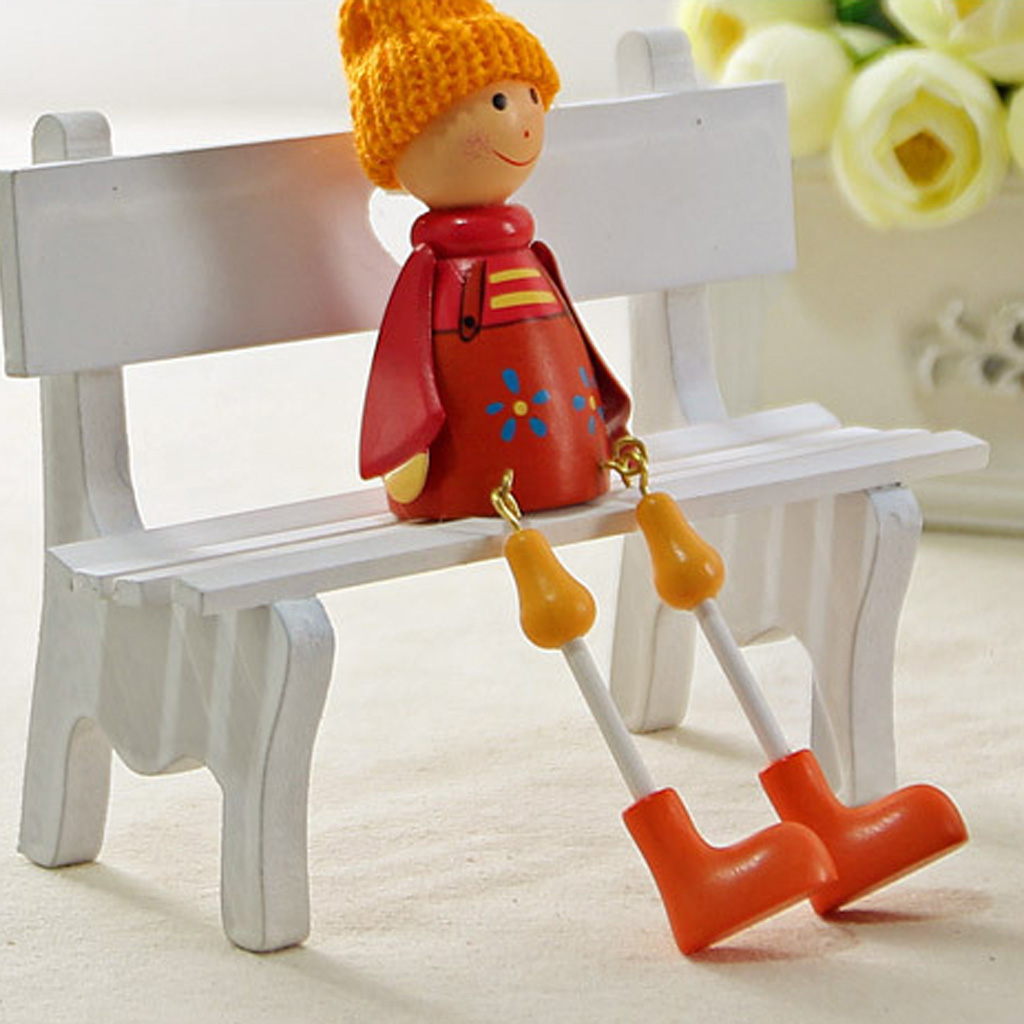 5x6inch Dollhouse Miniature Kitchen Furnitures European Kitchen Dining Bench Kids Gift Doll House Tools Craft